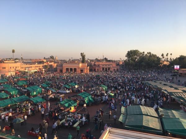 Jemaa El Fnaa, Marrakech, Maroc