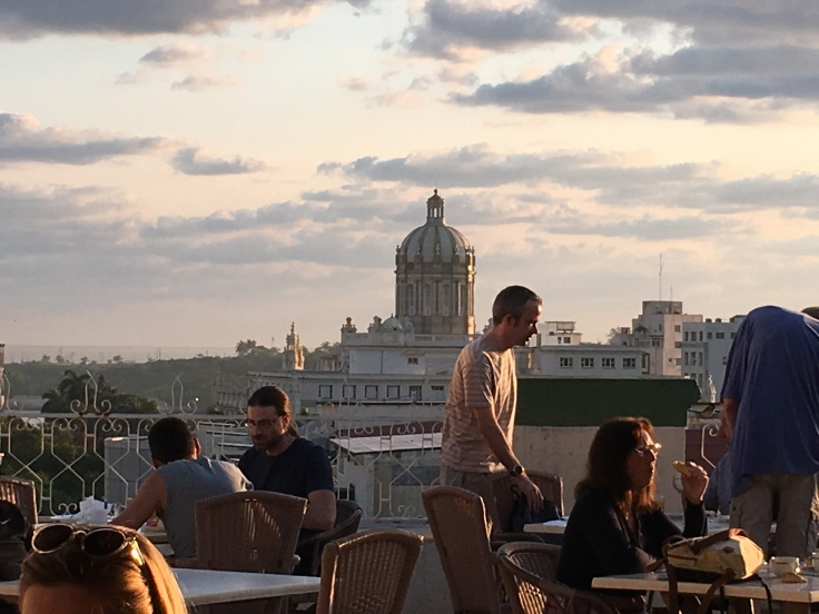 Views from the Breakfast Terrace at the Plaza Hotel in Havana, Cuba