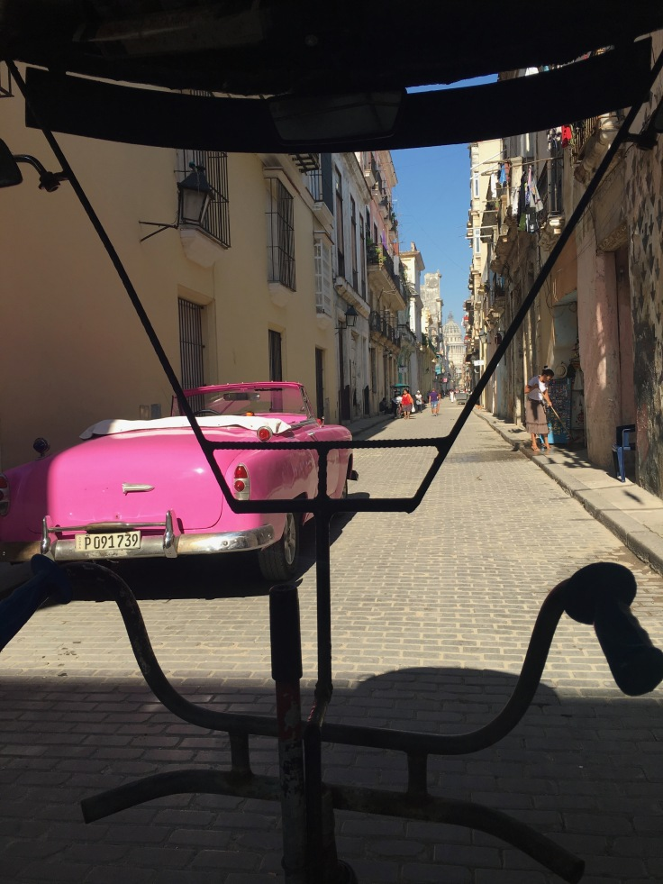 Even whilst enjoying our ride in this sweet little cycle rickshaw, I couldn't help but admire the classic cars - Havana, Cuba