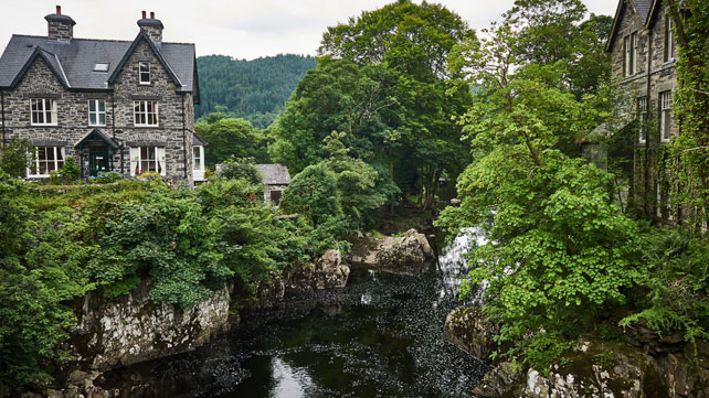 The village of Betws-e-Coed, Snowdonia, Wales