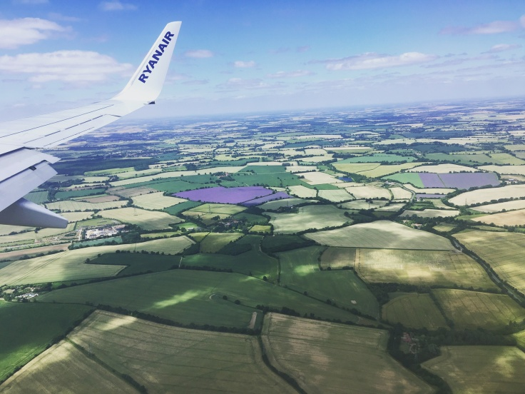 Up in the Clouds - Flight Photography Above lavender farms near Stanstead Airport, London, UK