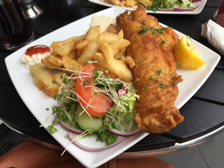 English Fish and Chips in Great Yarmouth, Norfolk, UK