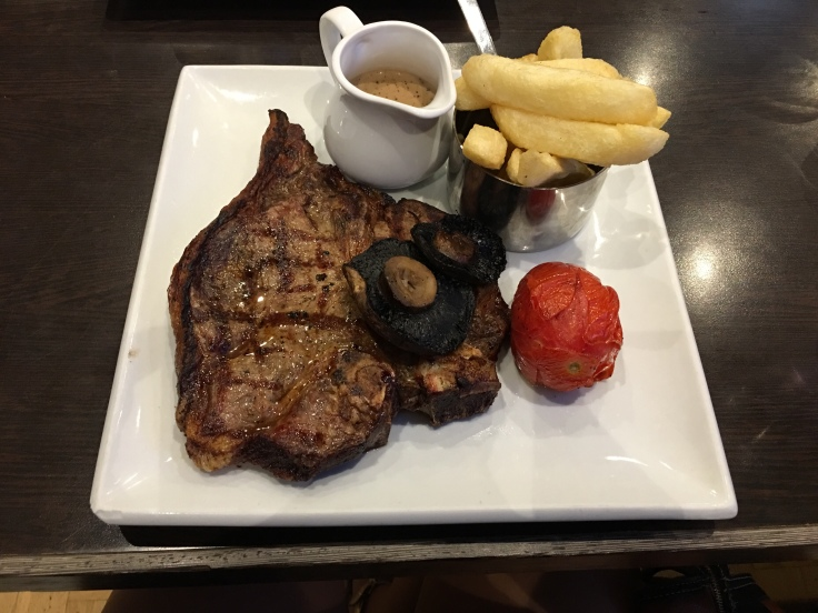 The best T-Bone Steak I have ever had in the Cliff Hotel, Gorleston, Great Yarmouth, Norfolk Road Trip