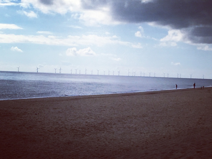 Wind Turbines, Winterton Beach, Norfolk coastal Road Trip