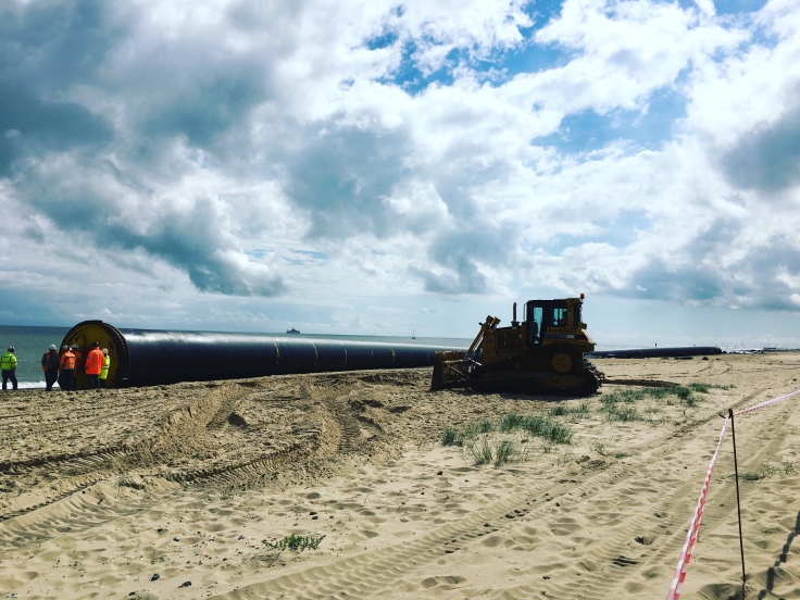 The Giant Beached Pipe, Winterton Beach, Norfolk coastal Road Trip