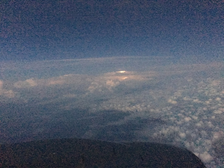 Up in the Clouds - Flight Photography When lightening strikes above Jamaica