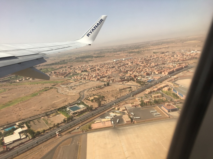 Up in the Clouds - Flight Photography Morocco, Pink Marrakech