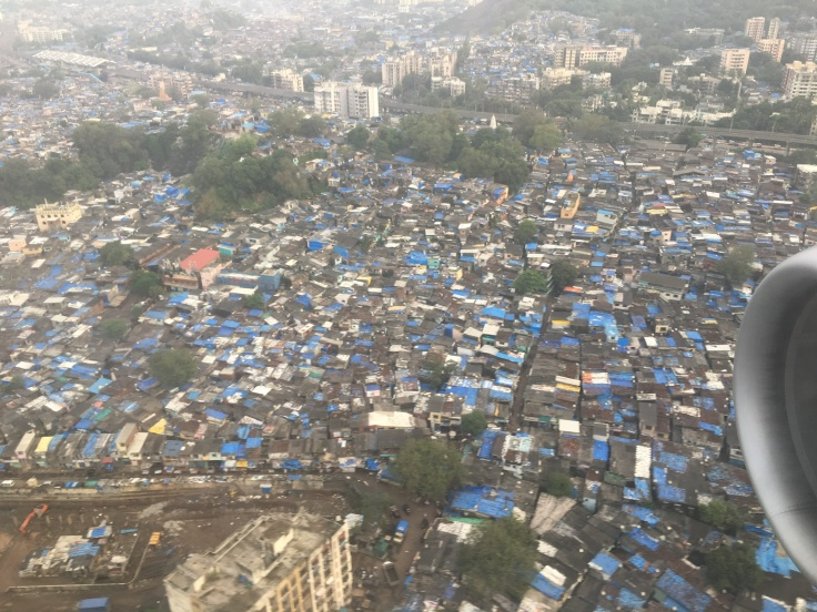 Up in the Clouds - Flight Photography Above Mumbai, India, Dharavi
