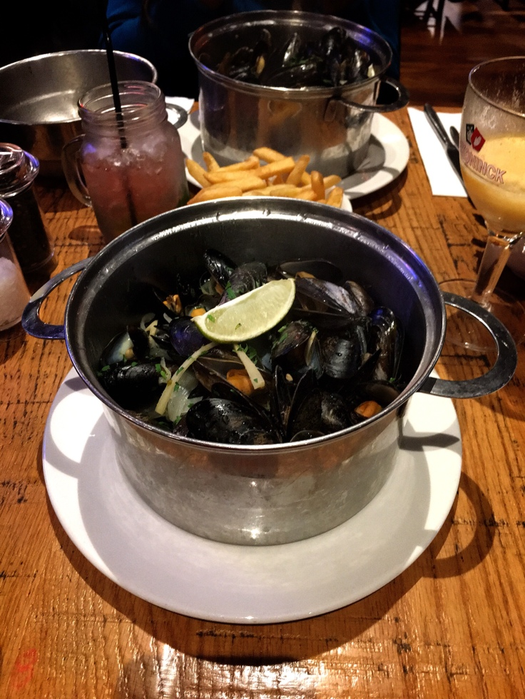 Pot of Moules (Mussels), Belgo, London, Restaurant